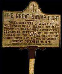 "A sign or placard for ""The Great Swamp."""
