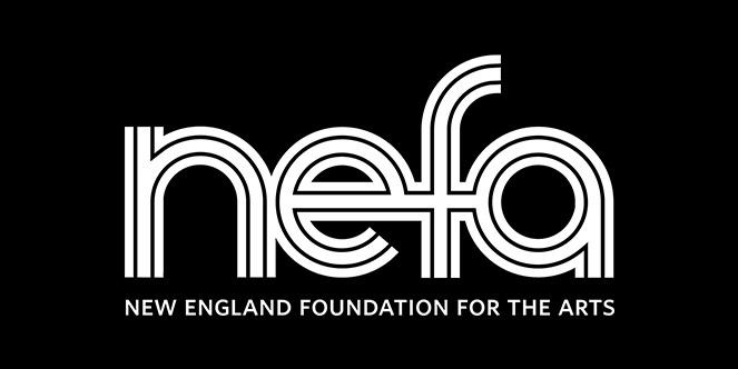 NEFA's logo white text over black