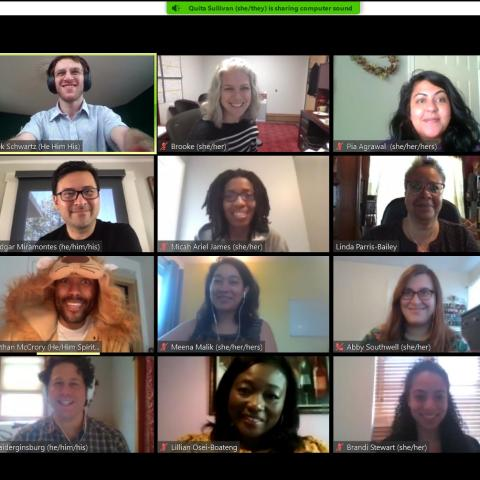 Video chat with 20 participants.