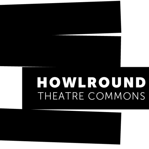 HowlRound's logo features the organization's name in the third box in a vertical pile, with their box inching out from two boxes above.